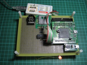 AVR-ISP 接続した様子
